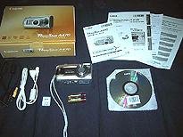 Canon PowerShot A470の箱の中身一覧の画像